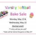 Varsity Softball Charity Bake Sale