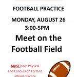 JH Football Practice