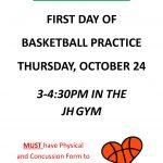JH Girls Basketball Practice