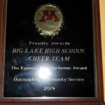 Cheerleading Team earns Kasner's Kick Duchenne Award for Outstanding Community Service