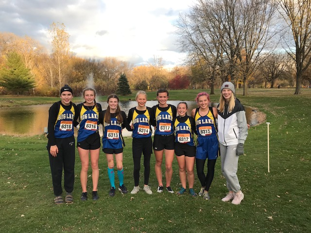 Girls XC Team Ends Season with Fast Times