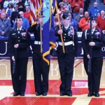 Congrats to Our All-Girls NJROTC Color Guard Presenting at UD Arena