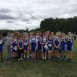 Boys Middle School Cross Country finishes 9th place at Vertical Runner Invitational