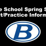 Brunswick Middle Schools Spring Sports Tryout/Practice Information
