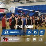 Boys Varsity Volleyball beats Kent Roosevelt 3 – 0