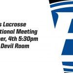Brunswick Girls Lacrosse Informational Meeting Grades 9-12