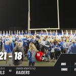 Varsity Football beats Shaker Heights 21 – 18