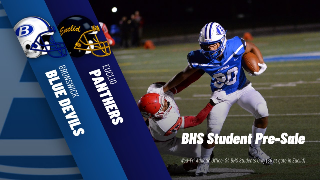Week 8 Football @ Euclid Information & Student Pre-Sale Tickets