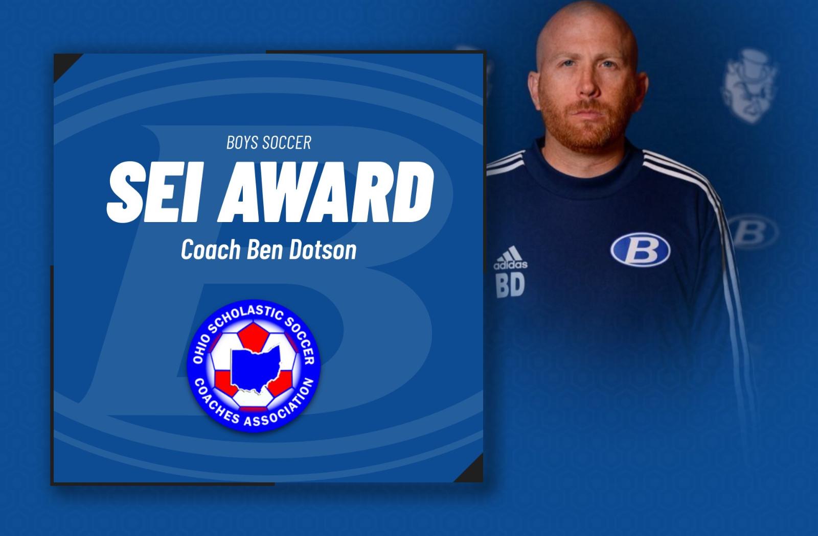 Coach Ben Dotson Honored as Ohio's SEI Award Recipient
