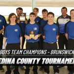 Boys Varsity Bowling finishes in 1st place at Medina County Championships