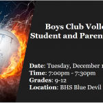 Boys Club Volleyball Informational Meeting Grades 9-12