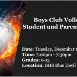 Boys Club Volleyball Informational Meeting Grades 9-12