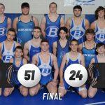 Varsity Wrestling beats Keystone 51 – 24