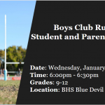 Boys Club Rugby Informational Meeting Grades 9-12