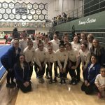 Varsity Gymnastics finishes 2nd place at GCC Championships