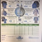 Softball Apparel Order Sheet