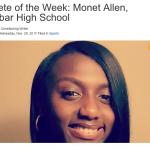 DDN Athlete of the Week! Dunbar's Very Own Monet Allen