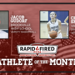And the Rapid Fired Pizza Athlete of the Month is…..