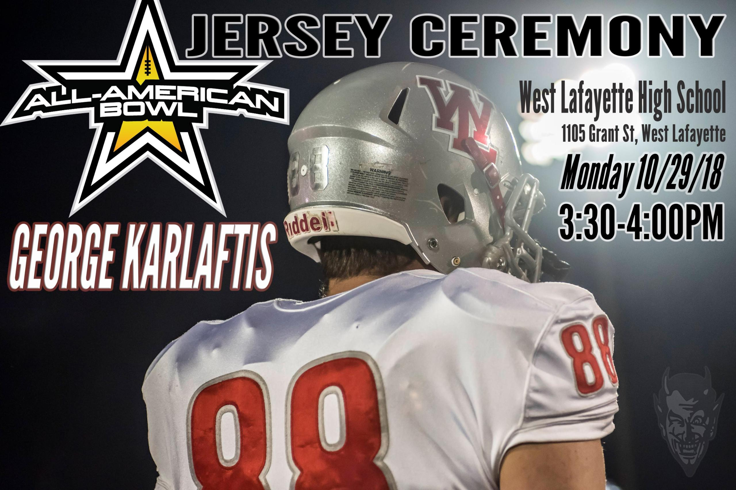 All-American Bowl jersey presentation for George Karlaftis