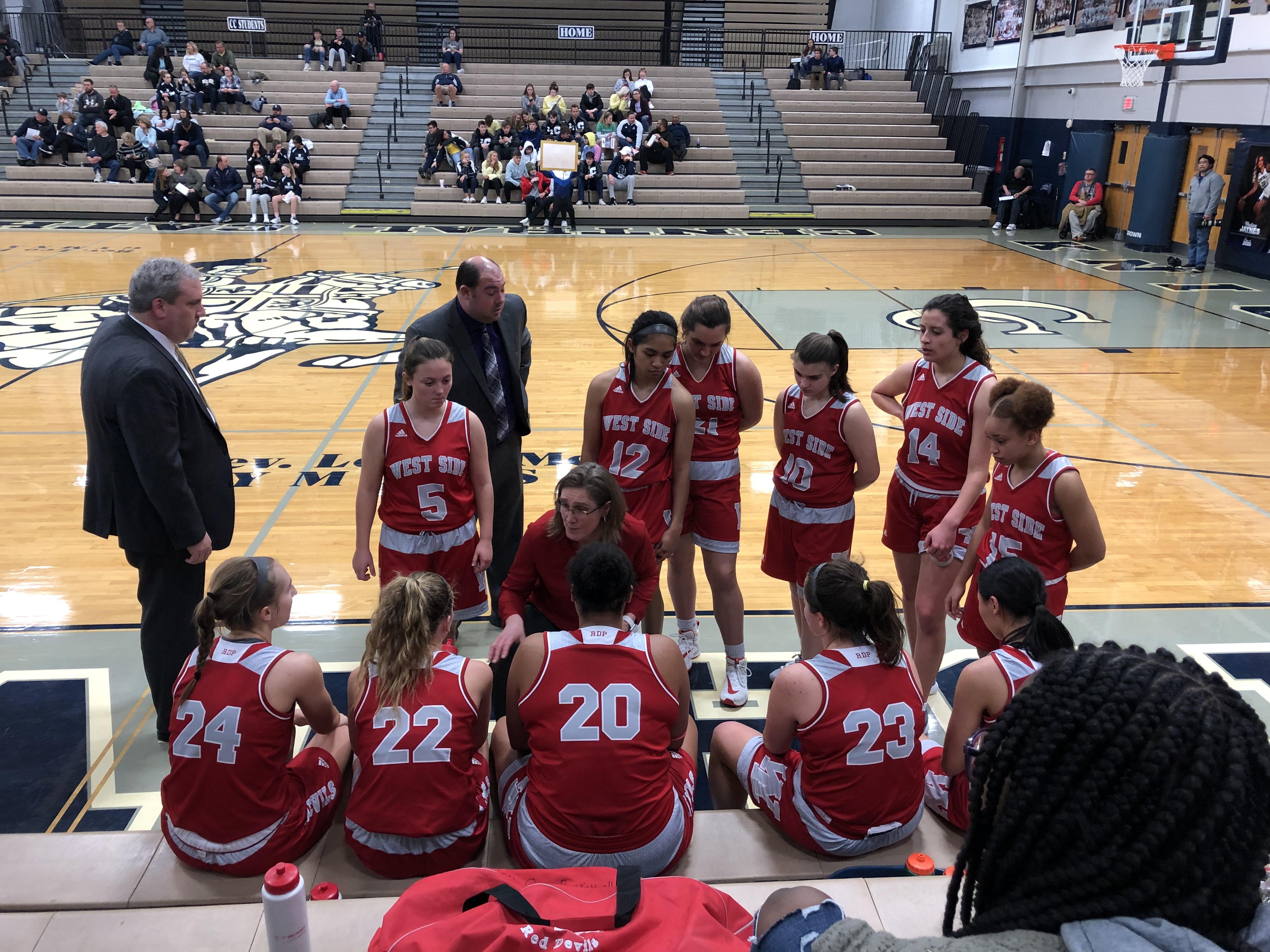 Girls Varsity Basketball falls to Laf. Cent. Catholic 57 – 50
