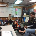 Football Team Promotes Literacy Week