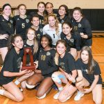 Varsity volleyball wins their 3rd straight District Championship!!!!!!!
