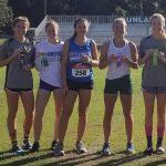 Girls Varsity Cross Country finishes 1st place at Trinity Catholic Invitational