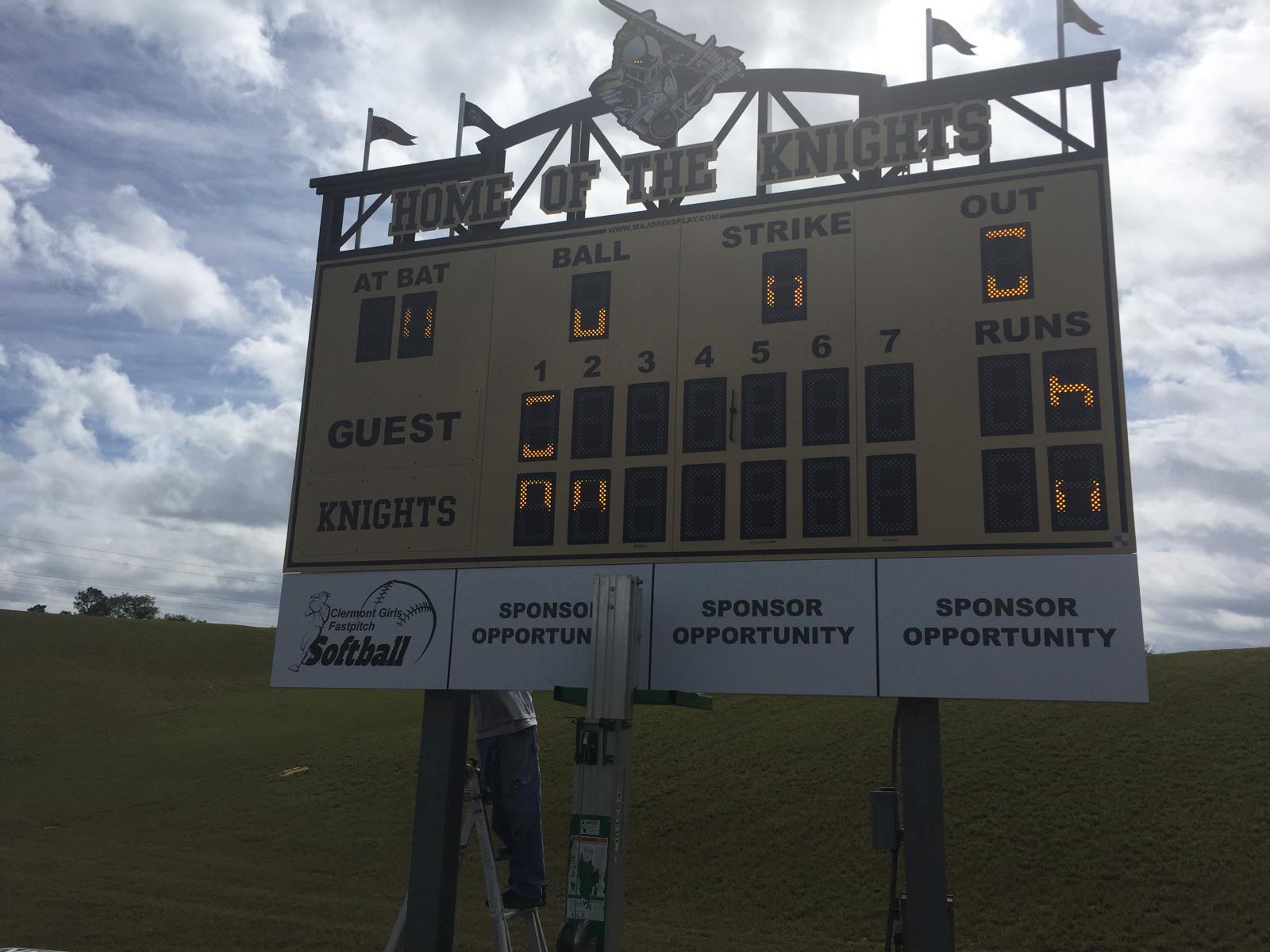 Looking for sponsors for new scoreboard