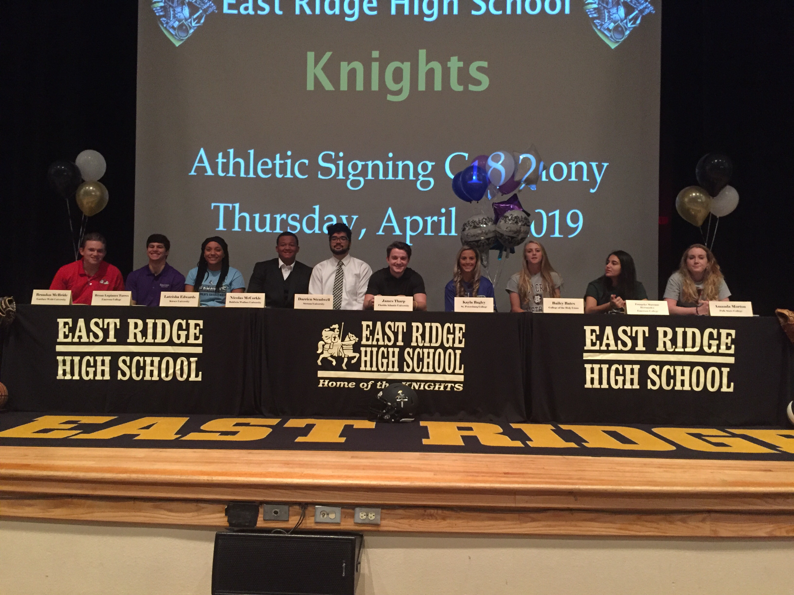 Ten Knights sign college letter of intents