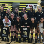 Girls' Volleyball Gets the Win Over TFA on Senior Night
