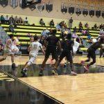 Bishop Moore Catholic High School Boys Varsity Basketball falls to Leesburg High School 50-46