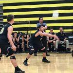 Bishop Moore Catholic High School Boys Varsity Volleyball beat Lake Brantley High School 3-0