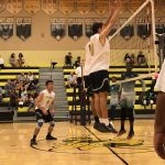 Bishop Moore Catholic High School Boys Varsity Volleyball beat Maynard Evans High School 3-0
