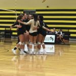 Girls' Volleyball Earns a Big Win on Senior Night