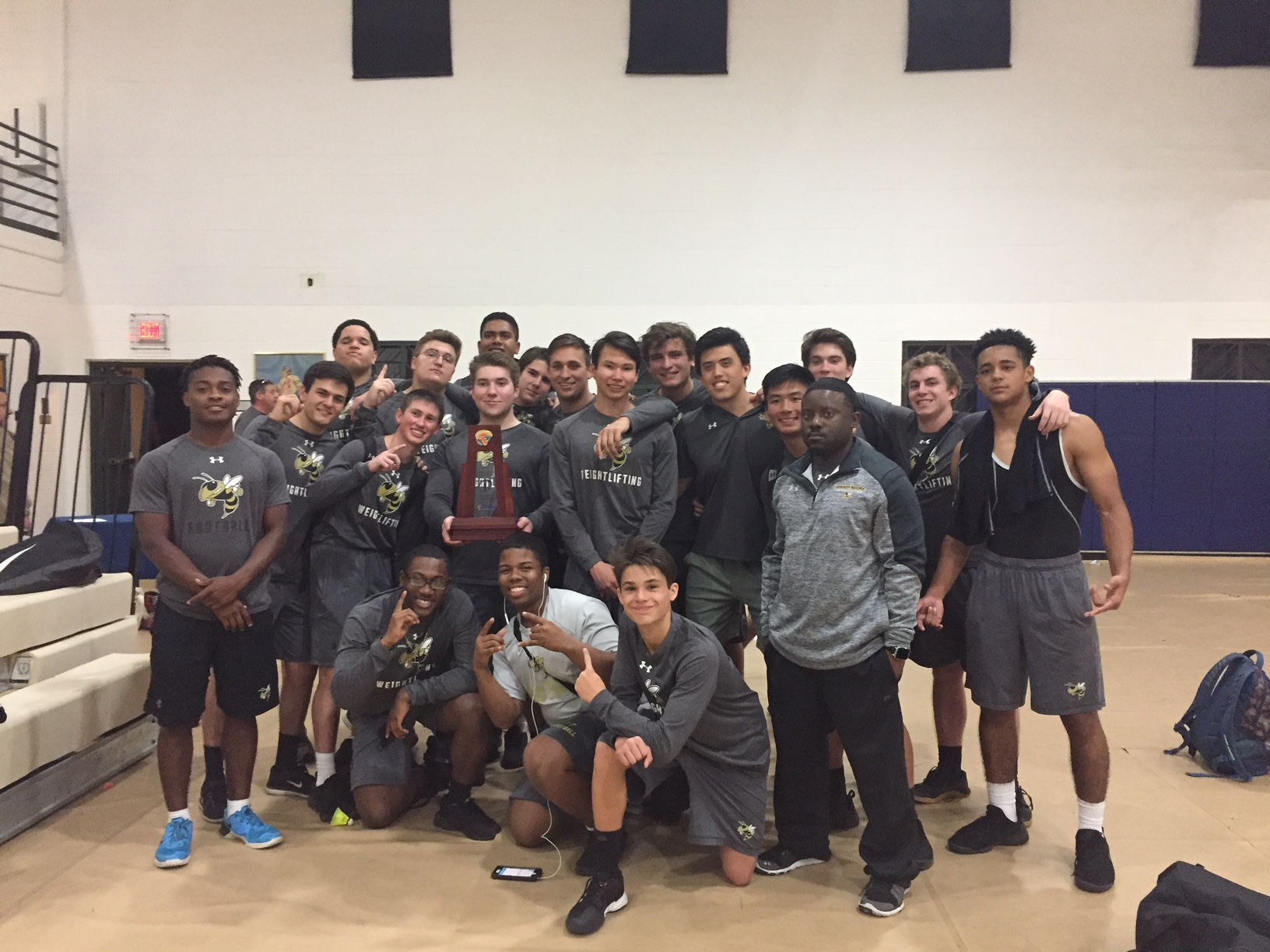 Weightlifting Team Wins District Title!