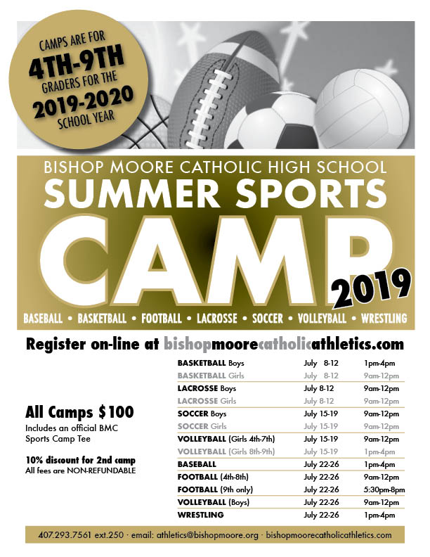 JOIN in the FUN-SUMMER SPORTS CAMPS & BAND CAMP