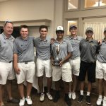 Boys Varsity Golf finishes 1st place at College Park Cup