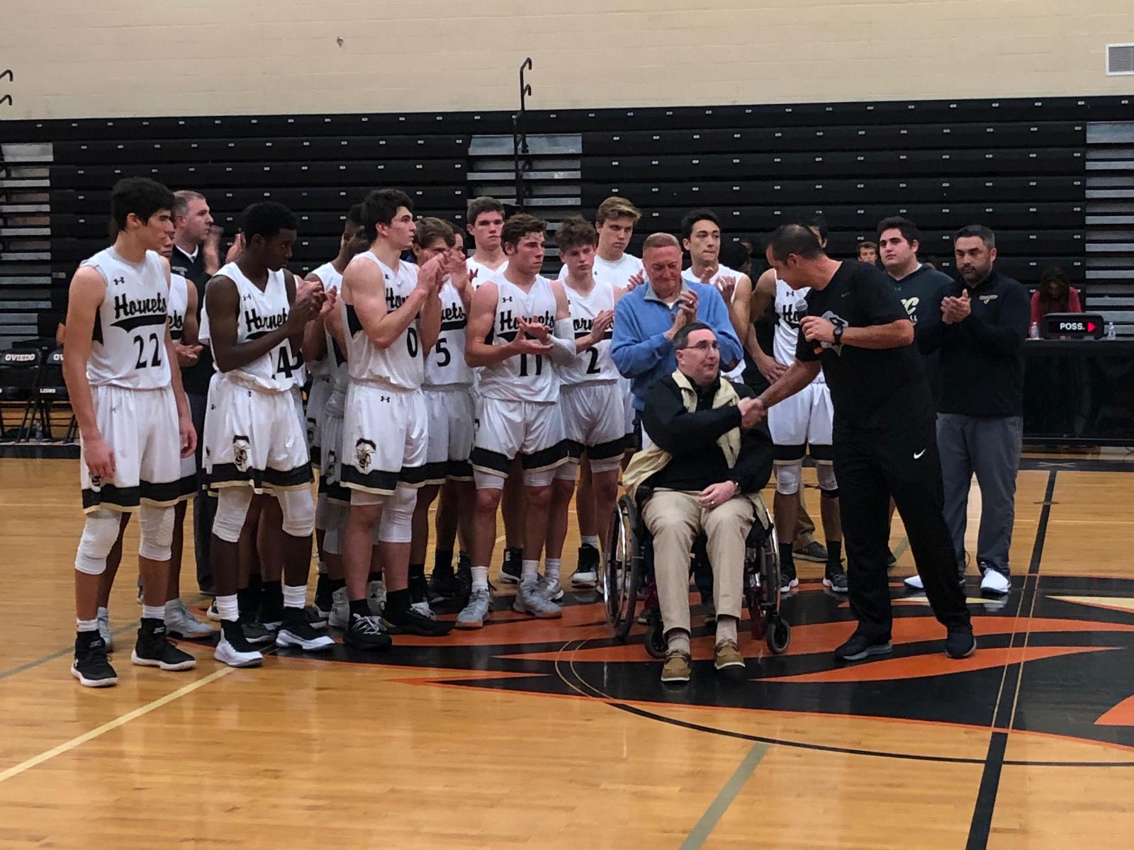 Boys Basketball Beats OCP and Celebrates Coach Graham