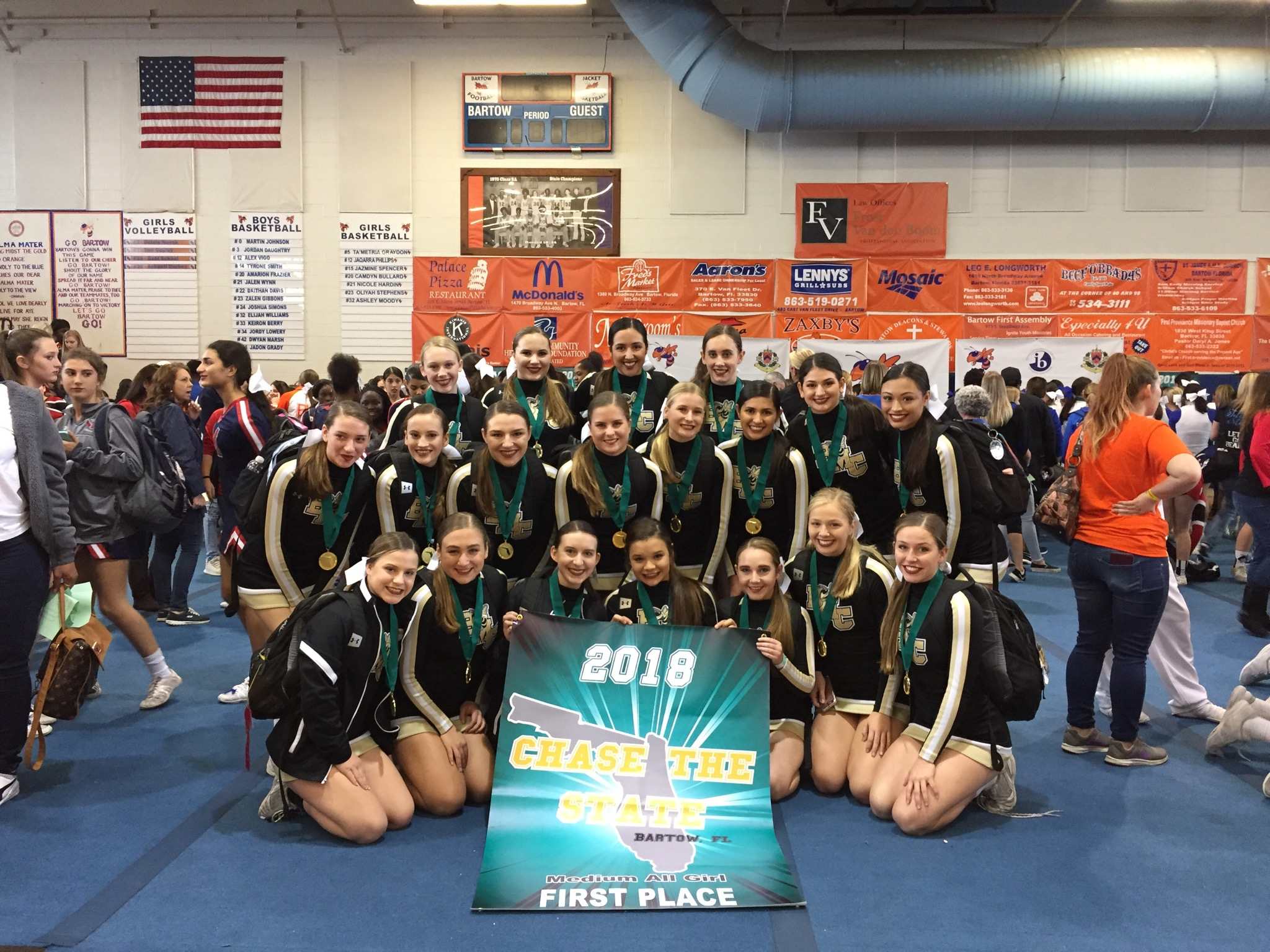 Competition Cheer will travel to Hudson HS for Regionals Friday, Jan. 18th, 2019