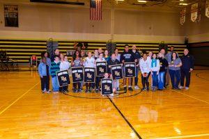 Girls Basketball, Winter Guard and Dance Team Senior Night 2019