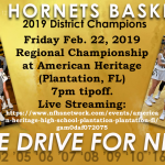 Girls Basketball Heads to Regional Championship Friday, Feb. 22nd, 2019