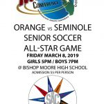 Bishop Moore will host the Orange vs. Seminole Senior Soccer All Star Game