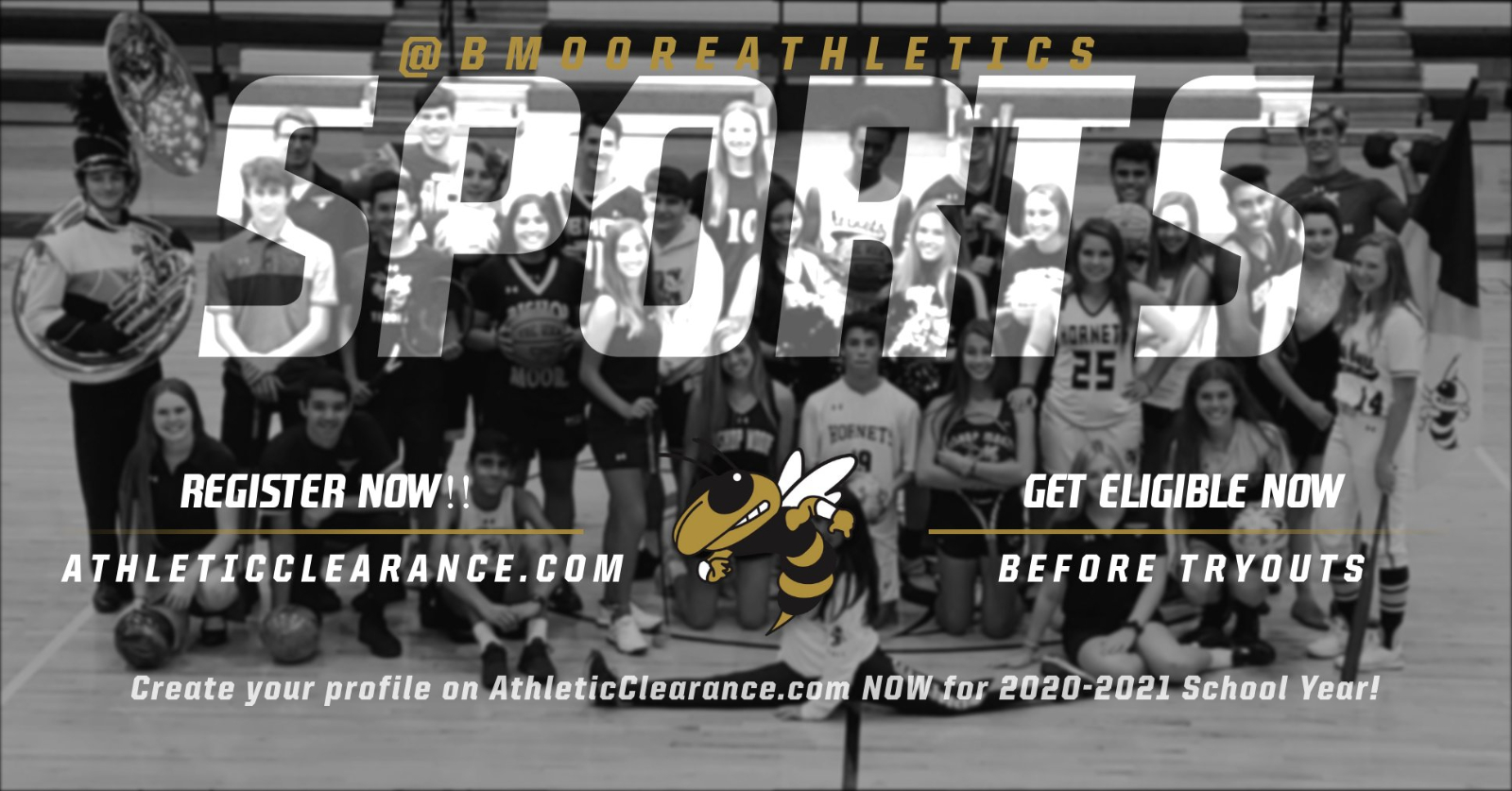 REGISTER NOW ON AthleticClearance.com for 2020-2021 School Year!