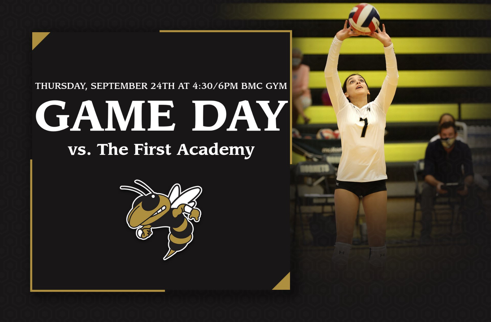 Girls Volleyball will host The First Academy – Livestreamed