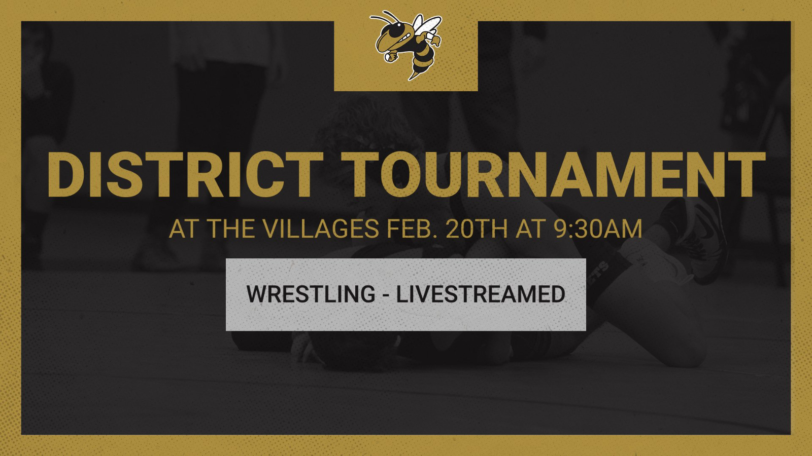 Wrestling District Tournament at The Villages Feb. 20th – LIVESTREAMED