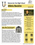 Athletics Newsletter | September 2020