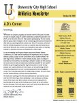 Athletics Newsletter | October 06, 2020