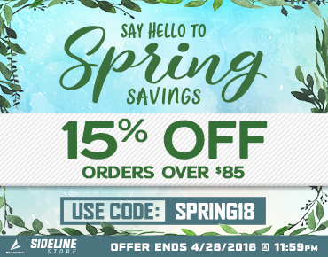 Spring into your Spirit Gear – 15% off Orders $85.00 or more, now – Apr 28th 11:59 PM EST.