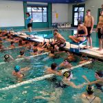 Boys Varsity Swimming beats Thunderbird 95 – 74