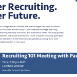 NCSA Recruiting Webinar (Free to all PHS Athletes and Parents)